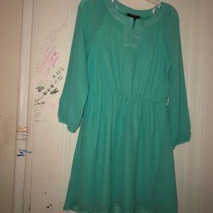 Kohl's, teal dress.
